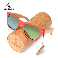 BOBO BIRD C-CG003c Red Plastic Frame And Green Polarized Lens Sunglasses Women And Mens Dropshipping OEM 2017 Fashion Accessory