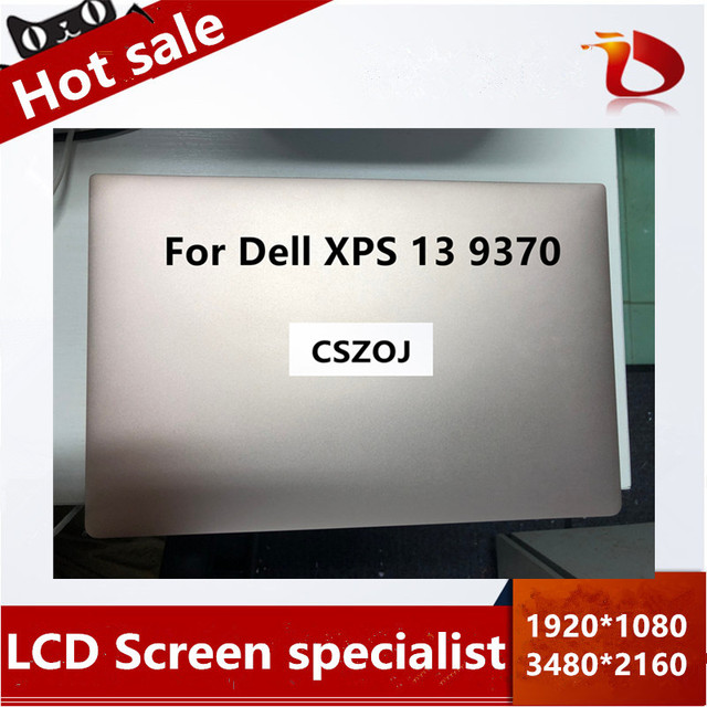 "Free Shipping Original 13.3"" inch LCD Touch Screen For Dell XPS 13 9370 LED LCD Touch Screen Complete Assembly FHD UHD"
