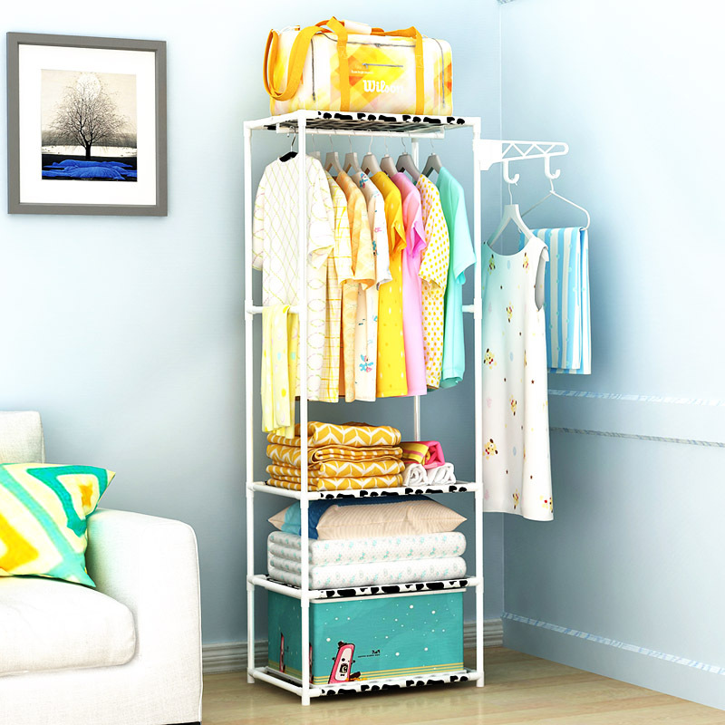 Simple Multipurpose Coat Rack Bedroom Wardrobe Closet Clothes Hanger Living Room Storage Shelf Minimalist Modern Home Furniture