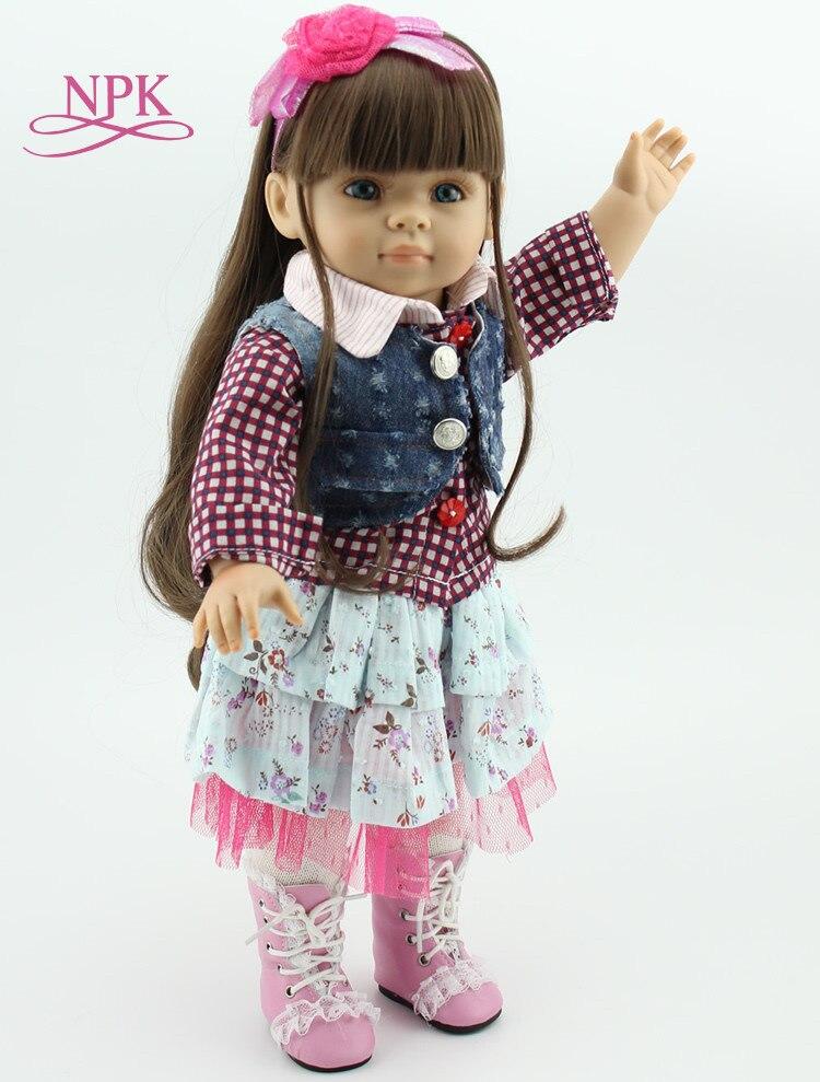 18 Inch American Dolls Handmade BJD Doll Reborn Babies Toys for Children with soft body Dolls