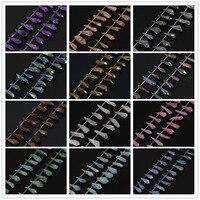 14 màu cho bạn lựa chọn bán buôn toàn sợi tự nhiên titanium ab quartz stick điểm thô nguyên crystals top khoan spike hạt