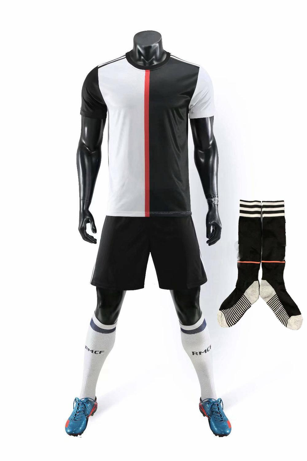 Children Sets football uniforms boys and girls sports kids youth training suits blank custom print soccer set with socks 33