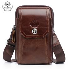 Genuine Leather Waist Packs Pack Belt Bag Handbags Phone Pouch Bags Travel Waist Pack Male Waist mens Bag Fashion Flap