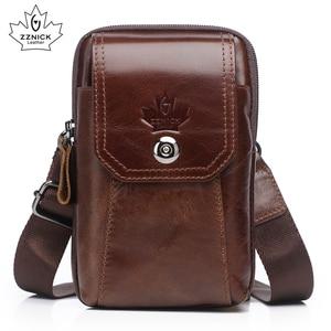 Image 1 - Hakiki Deri Bel Paketleri Paketi bel çantası Çanta Telefon kılıflı çanta Seyahat Bel Paketi Erkek Bel erkek çanta Moda Flep