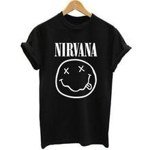 2019 Singer Nirvana T-shirts Men/Women Summer Cotton Tops Tees Print T Shirt Men Loose O-neck Short Sleeve Fashion Black Tshirts