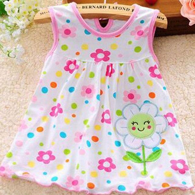 חדש קיץ בנות שמלות סגנון אינפנטילית שמלת מכירה לוהטת תינוקת בגדי קיץ פרח סגנון שמלת נמוך מחיר 2nd יום הולדת