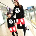 Family sets Mother Daughter Autumn And Winter cartoon Mickey Family Look Matching Clothes Mom son sets baby girls boys Clothing