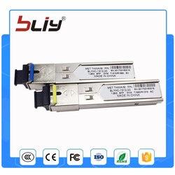 10pcs/lot sc connector 5km optical transceivers single fiber mini gbic sfp modules for mikrotik cisco huawei compatible
