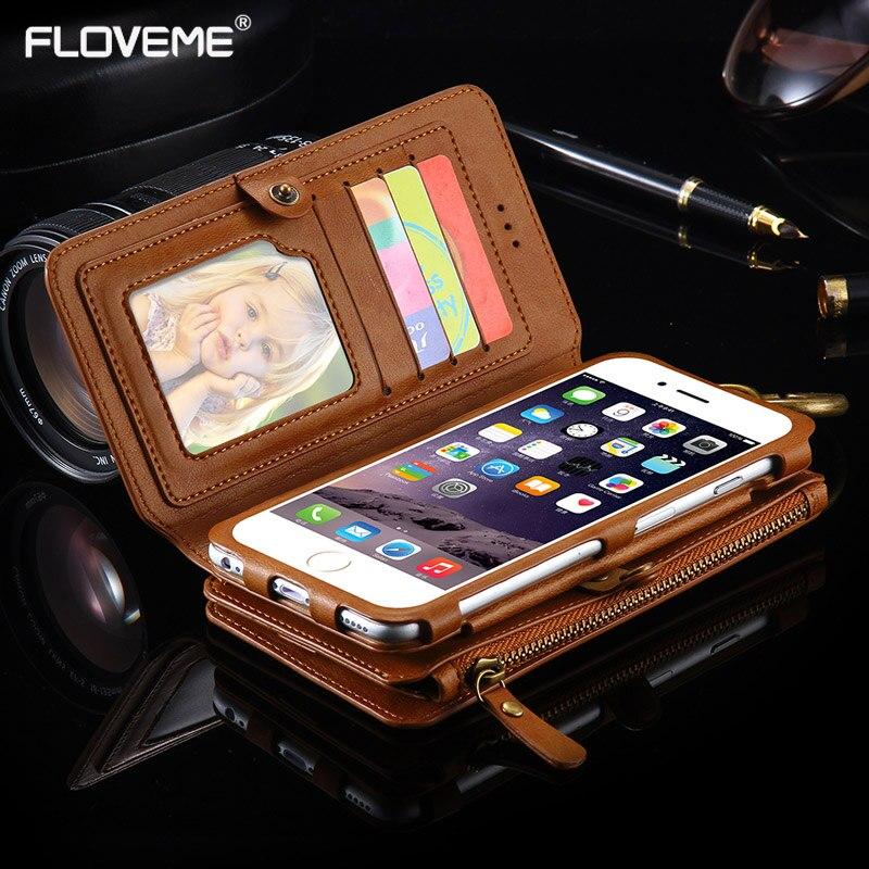 Цена за Floveme винтажные Ретро Бизнес бумажник кожаные чехлы для Apple iPhone 5S 5 5C SE карты кобура Бумажник Обложка защитный сумки