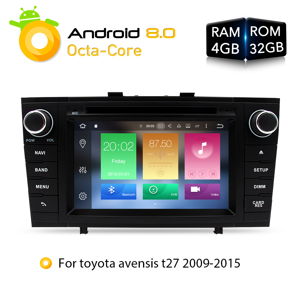 7 4G RAM Android 8 0 font b Car b font DVD Stereo Multimedia Headunit For