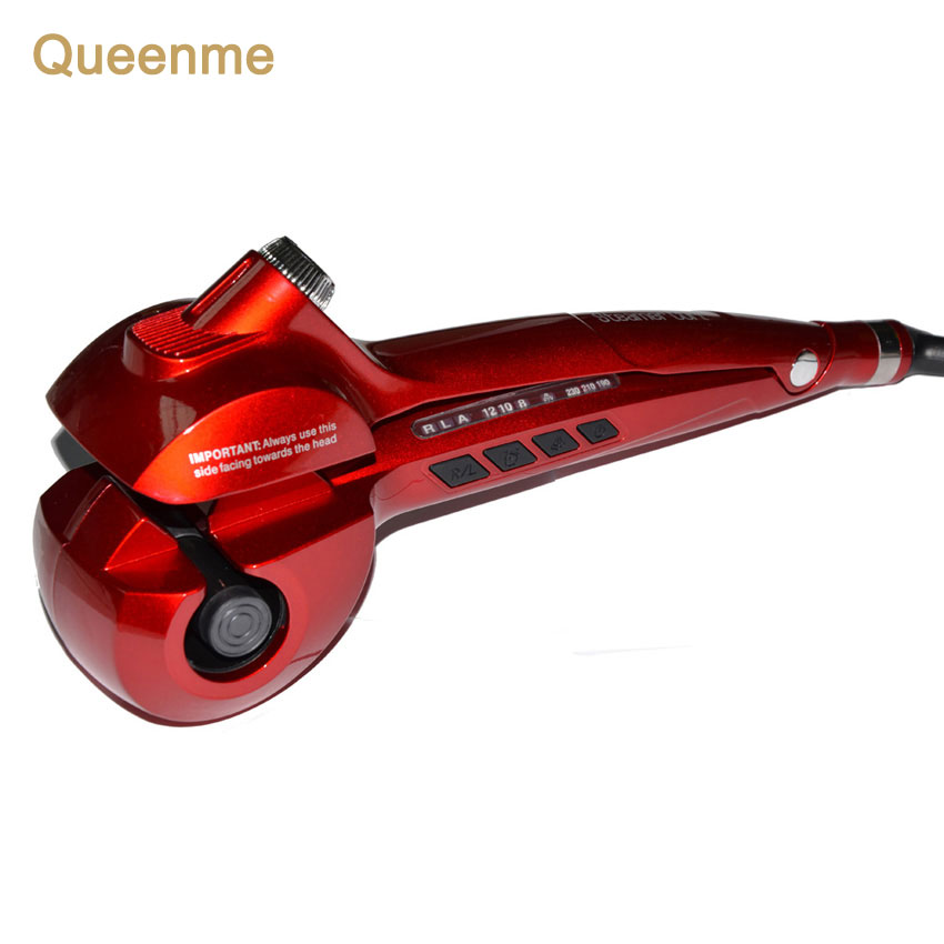 Queenme Steam Spray Hair Curler Styler Heating Hair Styling Tools Automatic Hair Curling Iron Curl Wand EU US AU UK Plug ckeyin 9 31mm ceramic curling iron hair waver wave machine magic spiral hair curler roller curling wand hair styler styling tool