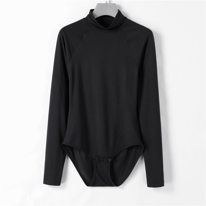 Long-Sleeve Turtleneck Sexy Bodysuit Women Autumn Winter Basic Solid Skinny   Jumpsuits   Romper Female Casual Bodycon Overalls 2018