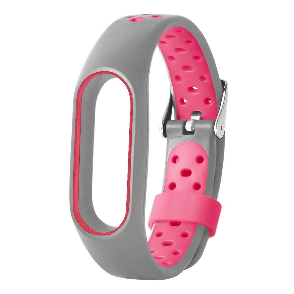 Waterproof Ventilate TPE Wrist Strap Bracelet Watch Band Clasp Loop Replacment For Xiaomi Mi Band 2 6J12 Drop Shipping