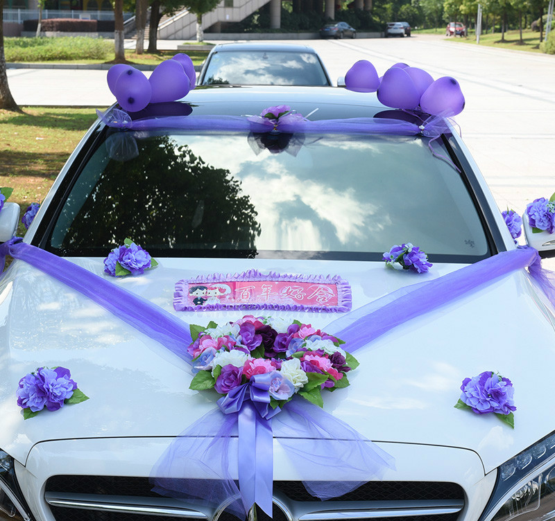 Korean style wedding car flower decoration set car car decoration korean style wedding car flower decoration set car car decoration supplies simulation flower in artificial dried flowers from home garden on junglespirit Gallery