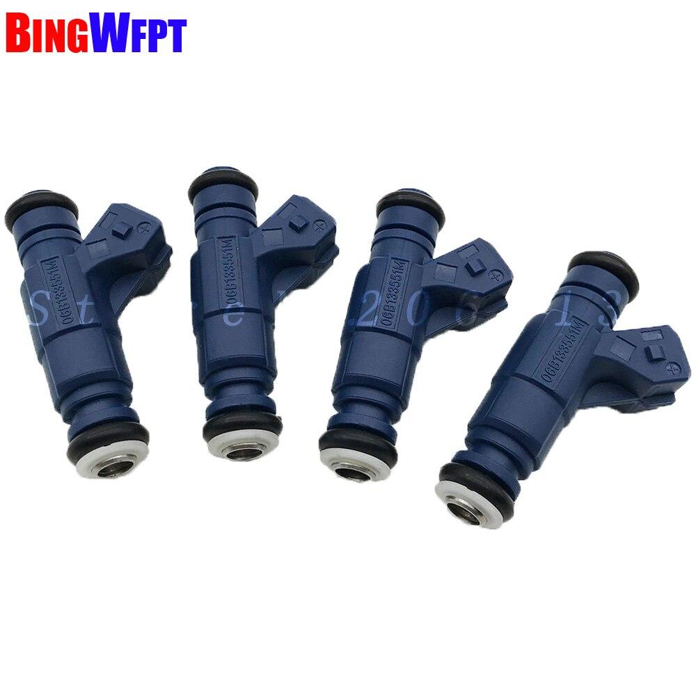 4PCS NEW Fuel Injectors 06B133551M 0280156065 For AUDI A4 A6 B5 B7 B6 C5 SKODA SUPERB