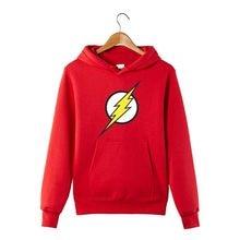 dc9660d608f444 Lampy błyskowej Barry Allen gwiazda laboratorium Labs mężczyzna bluza  mężczyźni nowość bohaterów sweter na co dzień
