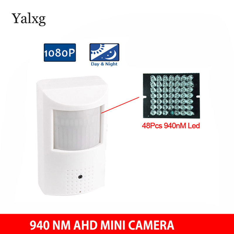 HD 960P/1080P AHD Mini Camera PIR Style Surveillance CCTV Camera 3.7mm Lens Security Camera With 940nm IR Lights Night vision