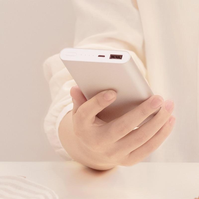 Xiaomi Mi Power Bank 2 10000 mAh External Battery Bank Dual USB Output charging treasure Two Way fast charge Ultra-thin forPhone