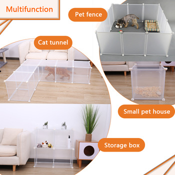 Pets Cats Door Playpen Cage Rabbit House Cat Tunnel 1
