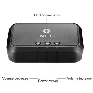 Image 2 - Vikefon Bluetooth Ontvanger Nfc/Usb Disk Muziek Lezen Stereo Draadloze Adapter 3.5Mm Aux/Rca Auto Speaker Bluetooth audio Ontvanger