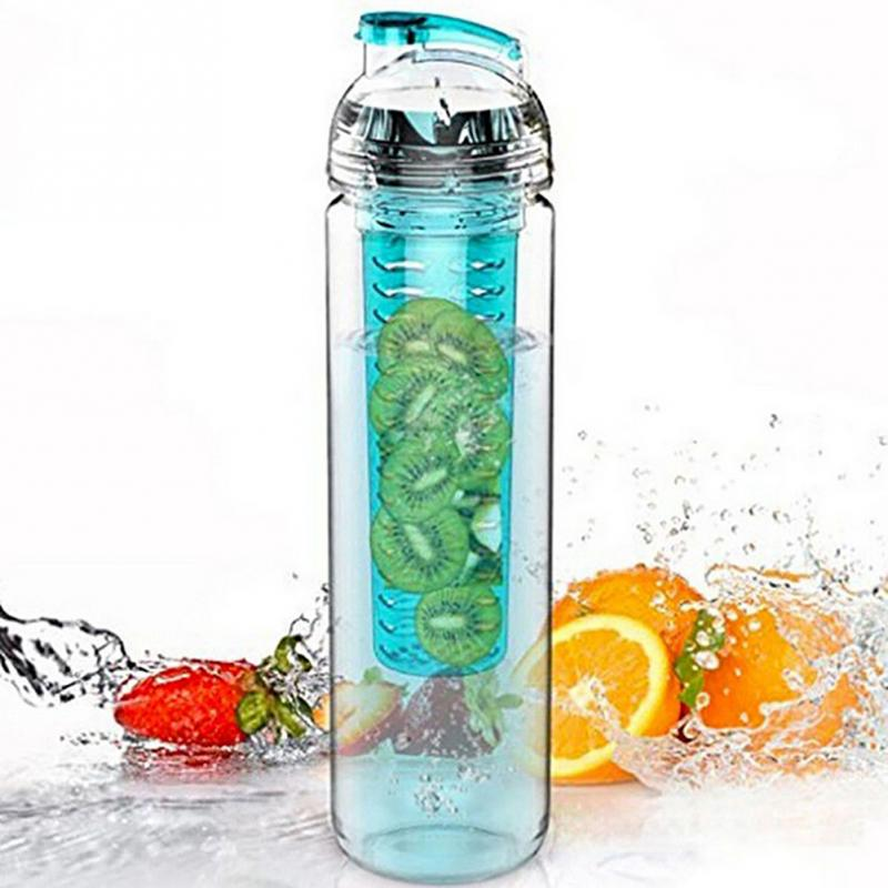 Hot 900ml Cycling Sport Fruit Lemon Infusing Juice Water Bottle Health Eco-Friendly Plastic Detox Bottle Flip Lid 1000ml fashion scented large water bottle with bag water bottle capacity portable bpa free fruit lemon juice drinking bottle