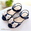 2015 New arrival summer children's shoes kids sandals girls open tole leather sandals for girls white pink blue girl shoes
