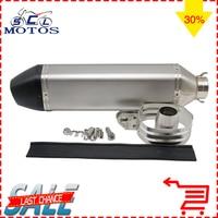 Sclmotos 470mm Length GP Moto Motorcycle Racing Akrapvic Exhaust Yoshimura Escape Racing For ATV Off Road