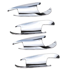 4pcs Car Chrome Door Handle Inserts Cup Bowls ABS For Mercedes-Benz C GLK Class W204 X204 GL X166 W166