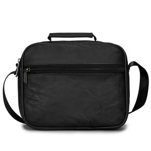 Image 4 - 男性本革メッセンジャーバッグ牛革ショルダーバッグデザインブランドショルダーバッグ男性バッグ黒レトロ多機能ハンドバッグ