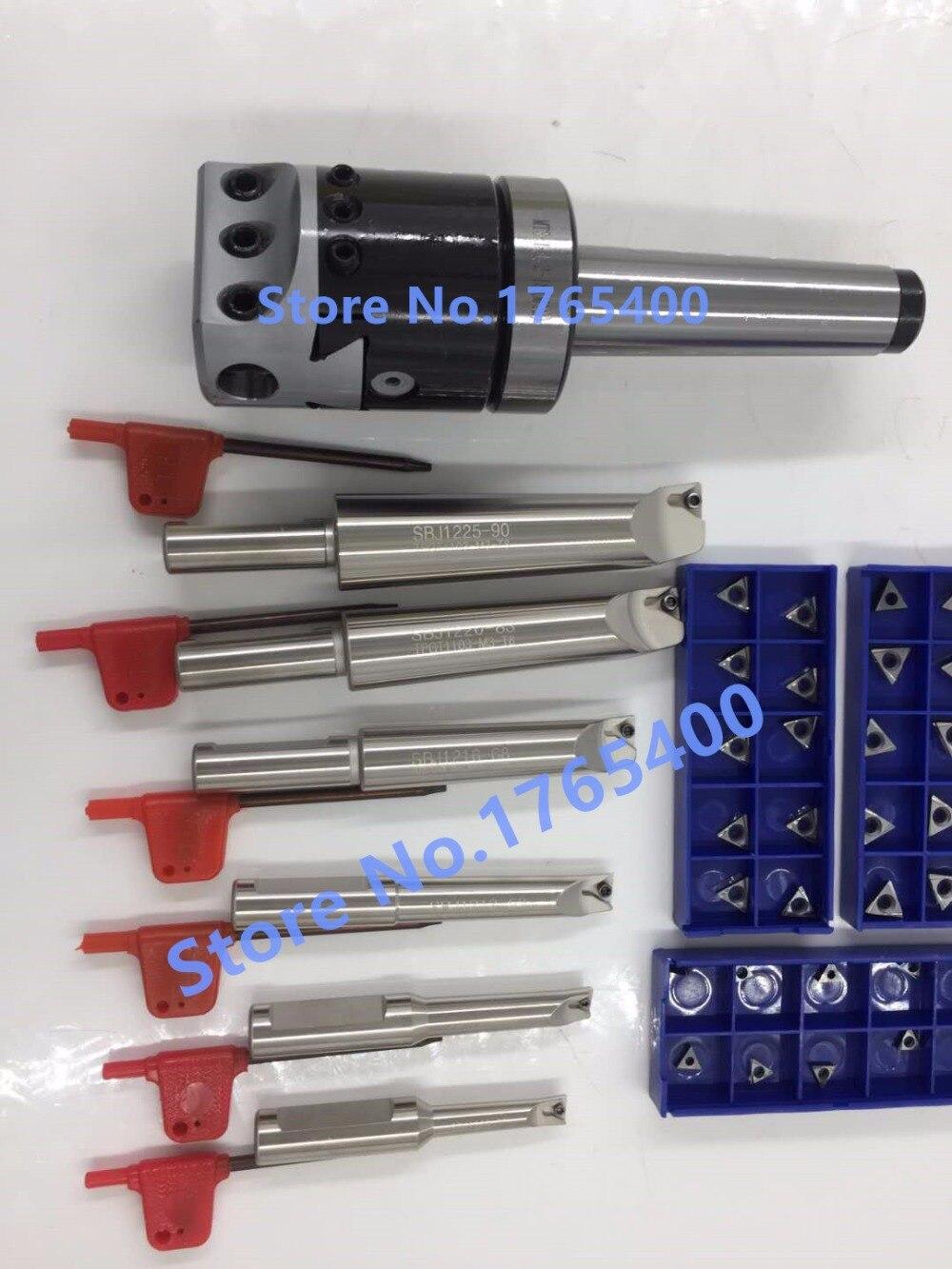 Nuovo MT4 M16 & F1 75mm noioso testa e gambo 18mm 6 pz borng bar & 30 pz inserti in metallo duro