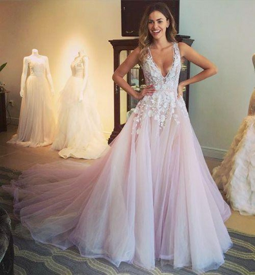 Online Buy Wholesale Light Pink Tulle Wedding Dress From