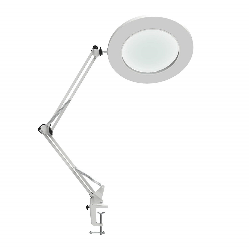 7W LED Magnifying Lamp Metal Clamp Swing Arm Desk Lamp Stepless Dimming 3Colors Magnifier LED lamp
