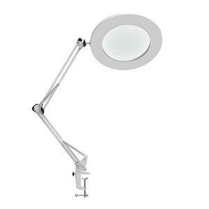 "Image 1 - Lámpara de mesa de aumento LED abrazadera de Metal brazo oscilante escritorio atenuación continua 3 colores 7W lupa luz 3X, 4,1 ""diámetro lente arquitecto"