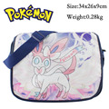2016 Japanese Anime Pokemon Sylveon Glaceon Messenger Shoulder School Bag For Students Kids Children Boys Girls Canvas Bags