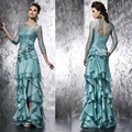 Best Seller Mint Green Three Quarter Floor Length Lace-up Mother of the Bride Dresses (MO8118)