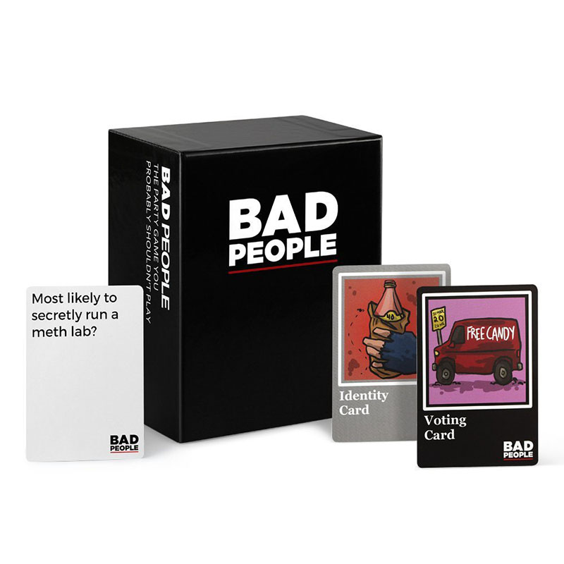 Adult Party Cards Game Bad People The Basic And Extended Versions Game The   Intellectual Development Educational Toy