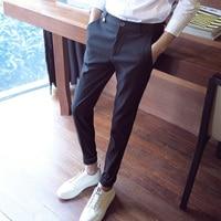 2018 nowego mężczyzna suknia stretch fit spodnie obcisłe spodnie męskie spodnie proste firm wear dla człowieka