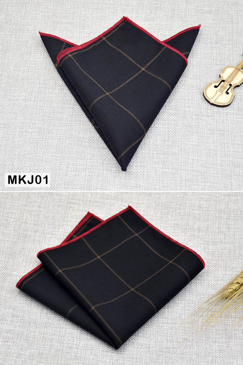 2019 100 Cotton Handkerchiefs Men's Pocket Square Print Scarf 22X22CM