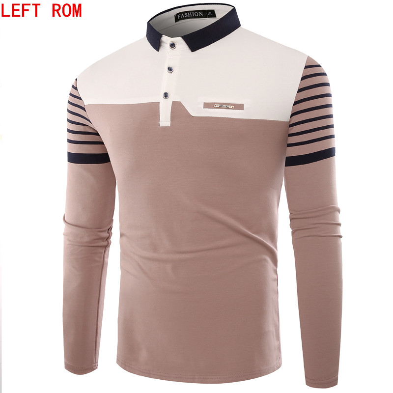 Brand Men Polo Hombre Shirt Mens Fashion Collar shirts Long Sleeve Casual Camisetas Masculinas Plus Size M-XXXL Polos Sweatshirt