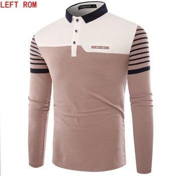 Marca hombres Polo Hombre camisa hombres moda Collar Camisas manga larga Casual Camisetas Masculinas talla grande M-XXXL Polos sudadera