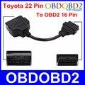 Высокое Качество Для Toyota 22 Pin 16 Pin Разъем OBD2 OBDII Диагностический Адаптер Для Toyota 22Pin Мужской Кабель Для Автомобилей Toyota