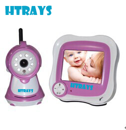 HTRAYS 3.5Inch 2.4G Wireless Digital Baby Monitor F3502P 480x320 LCD Display Two Way Audio With Night Vision Camera
