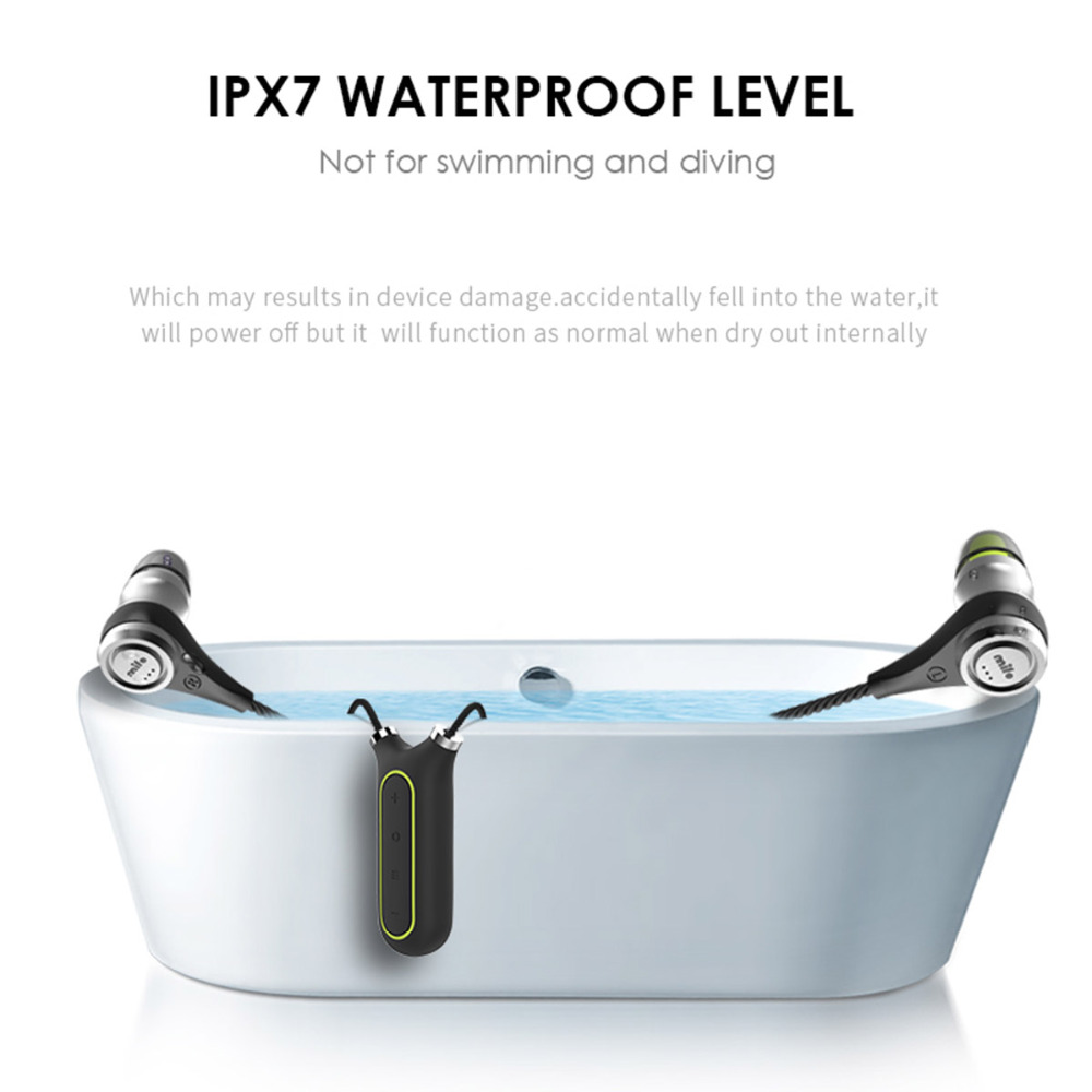 Mifo I2 Sport Wired Earphone headphone IPX7 Waterproof 8G Memory as MP3 player Recording Pen+bluetooth headset +Sport Necklace