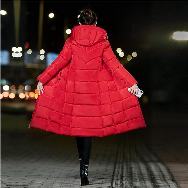 Winter Jacket Women Thick Warm Female Jacket Cotton Coat Parkas Long jaqueta feminina inverno Women Hooded Coat Plus Size XS 6XL in Parkas from Women 39 s Clothing
