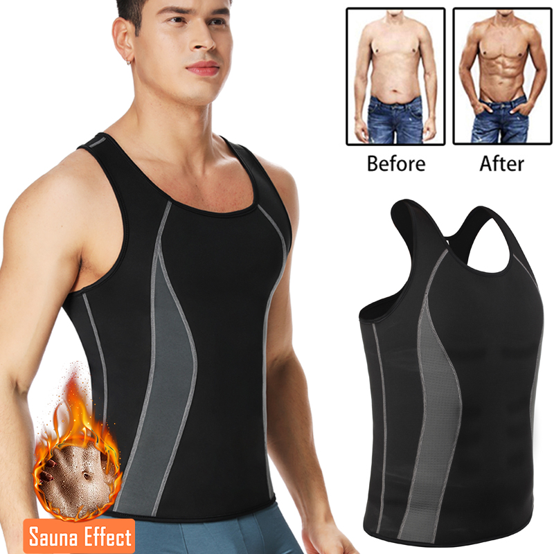 Men Neoprene Shapers Body Shaper Promote Sweat Waist Trainer Tummy Slimming Shapewear Male Modeling Belt Losing Weight Vest
