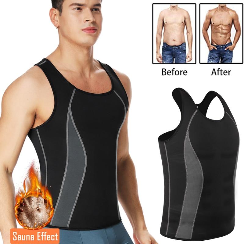 Men Neoprene Shapers Body Shaper Promote Sweat Waist Trainer Tummy Slimming Shapewear Male Modeling Belt Losing weight Vest