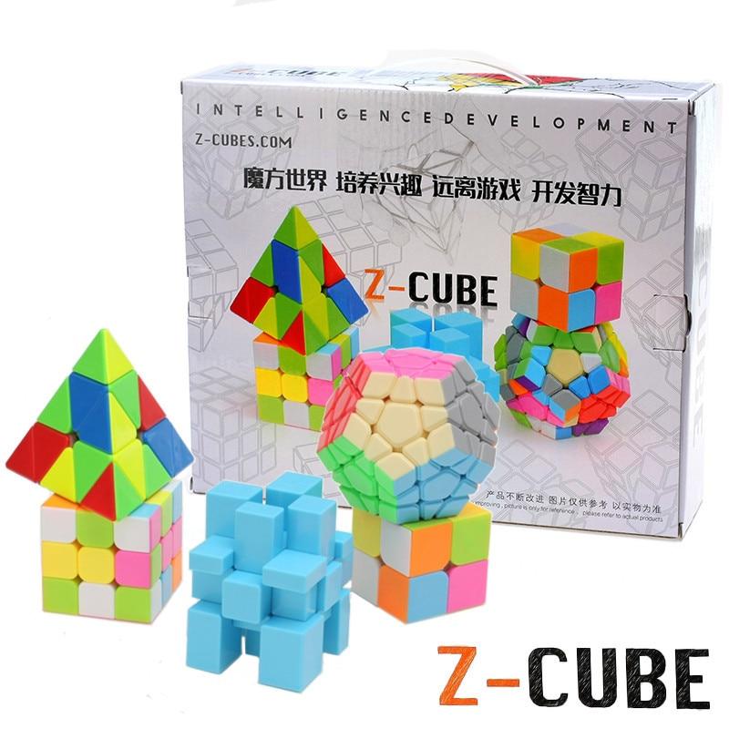5 pcs/ensemble 2x2x2 3x3x3 Puzzle Cube Magique Professionnel Cube Jouets Éducatifs Puzzle megam Skew Cube Cadeau pour Enfants ou Adultes