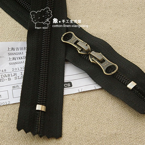 5 # YKK nylon zipper closed end section headed long outdoor travel backpack computer bag 60