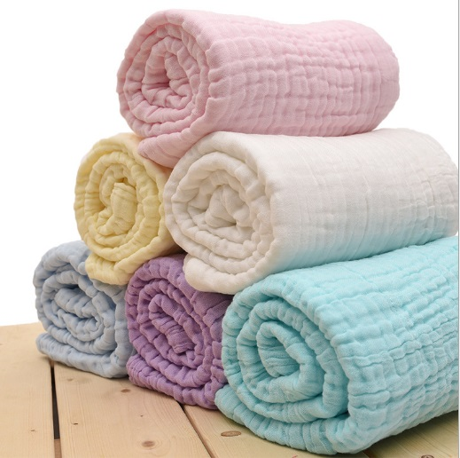 Newborn 100% Cotton Baby Blanket Infant Muslin Kids Soft Bath Shower Towel  Baby Gauze Swaddle Receiving Blankets 110cm*110cm