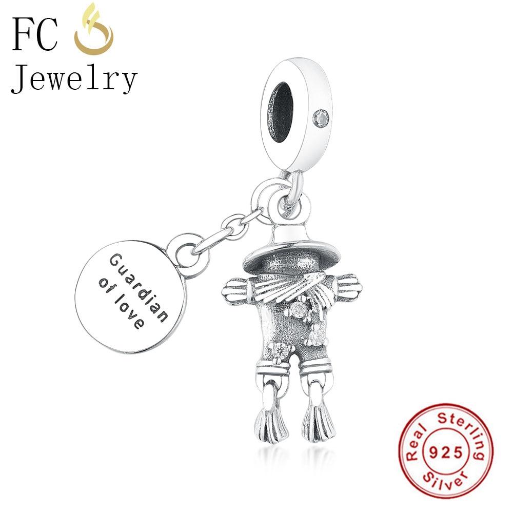 0eaf97561 FC Jewelry Fit Original Pandora Charm Bracelet 925 Silver Family Robot Boy  Girl Letter Best Friends Bead Pendant DIY Berloque USD 5.24-9.37/piece